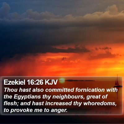 Ezekiel 16:26 KJV Bible Verse Image