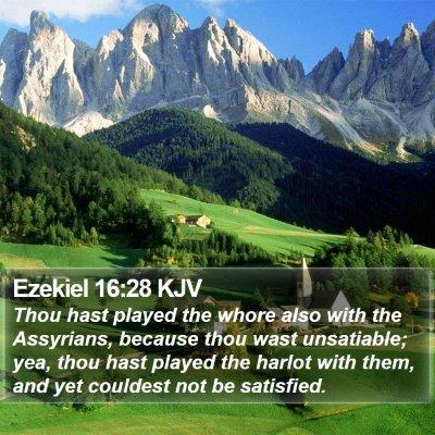 Ezekiel 16:28 KJV Bible Verse Image