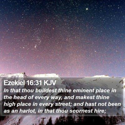 Ezekiel 16:31 KJV Bible Verse Image