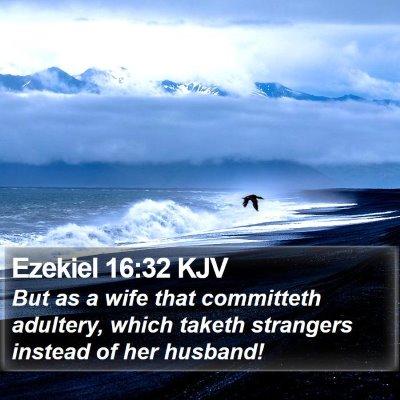 Ezekiel 16:32 KJV Bible Verse Image