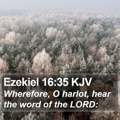 Ezekiel 16:35 KJV Bible Verse Image