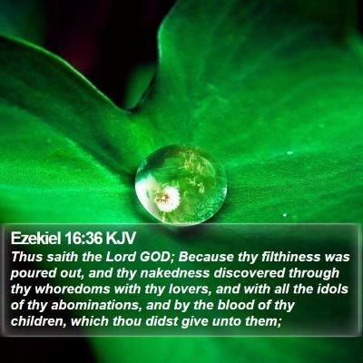 Ezekiel 16:36 KJV Bible Verse Image