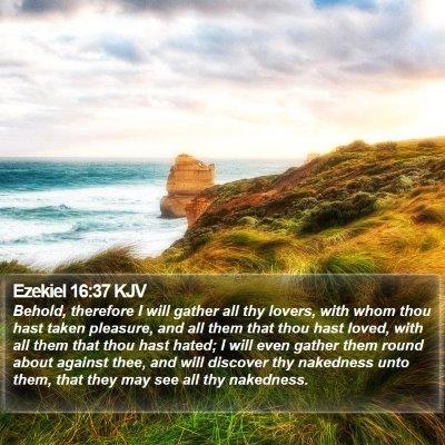 Ezekiel 16:37 KJV Bible Verse Image
