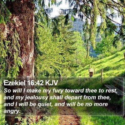 Ezekiel 16:42 KJV Bible Verse Image
