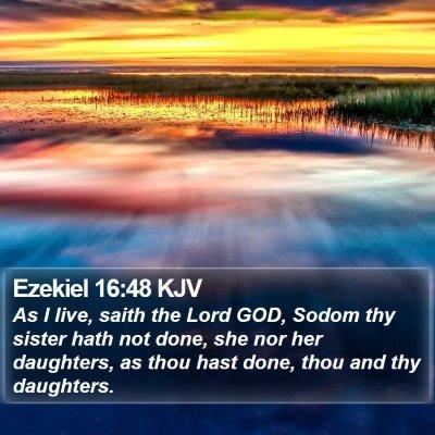 Ezekiel 16:48 KJV Bible Verse Image