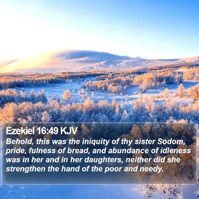 Ezekiel 16:49 KJV Bible Verse Image