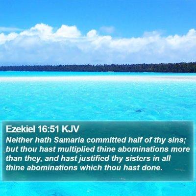 Ezekiel 16:51 KJV Bible Verse Image