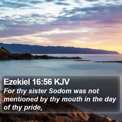 Ezekiel 16:56 KJV Bible Verse Image