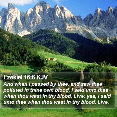 Ezekiel 16:6 KJV Bible Verse Image