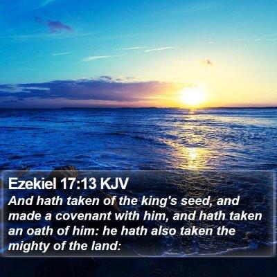 Ezekiel 17:13 KJV Bible Verse Image