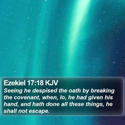 Ezekiel 17:18 KJV Bible Verse Image
