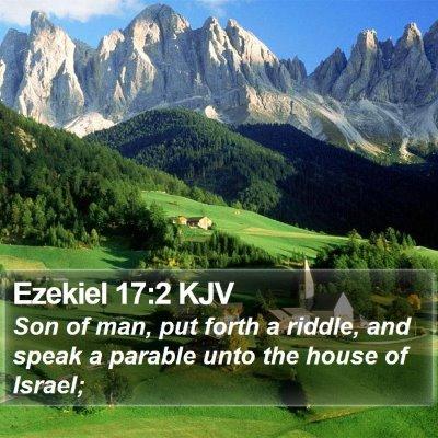 Ezekiel 17:2 KJV Bible Verse Image