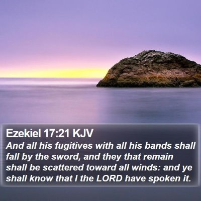 Ezekiel 17:21 KJV Bible Verse Image