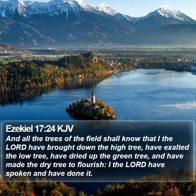 Ezekiel 17:24 KJV Bible Verse Image