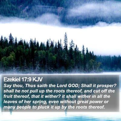 Ezekiel 17:9 KJV Bible Verse Image