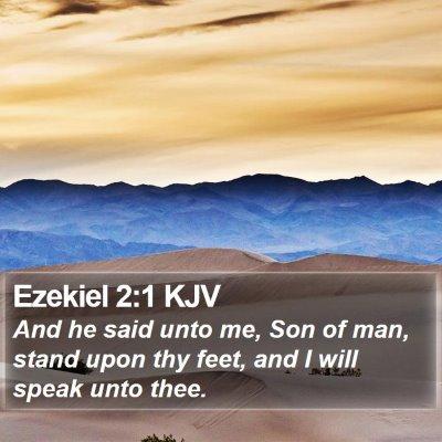 Ezekiel 2:1 KJV Bible Verse Image