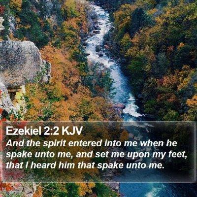 Ezekiel 2:2 KJV Bible Verse Image