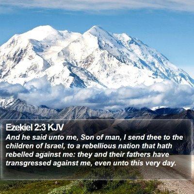 Ezekiel 2:3 KJV Bible Verse Image