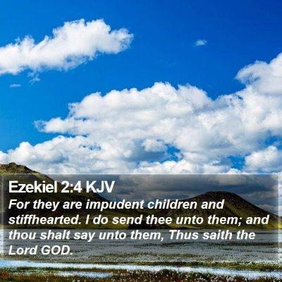 Ezekiel 2:4 KJV Bible Verse Image