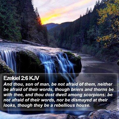 Ezekiel 2:6 KJV Bible Verse Image