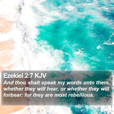 Ezekiel 2:7 KJV Bible Verse Image