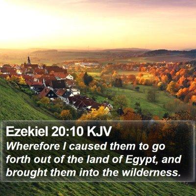 Ezekiel 20:10 KJV Bible Verse Image