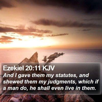 Ezekiel 20:11 KJV Bible Verse Image