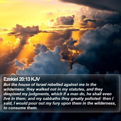 Ezekiel 20:13 KJV Bible Verse Image