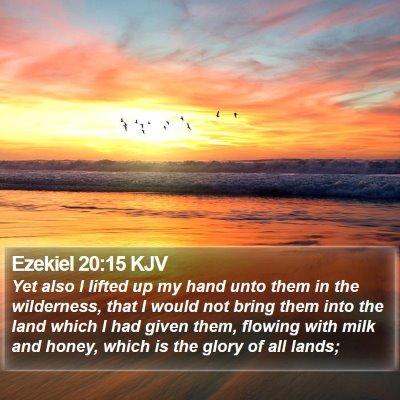 Ezekiel 20:15 KJV Bible Verse Image