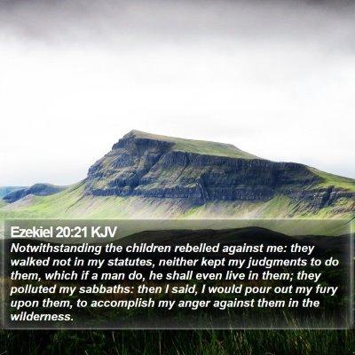 Ezekiel 20:21 KJV Bible Verse Image