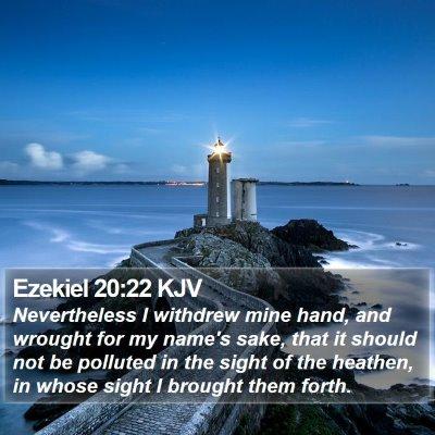 Ezekiel 20:22 KJV Bible Verse Image