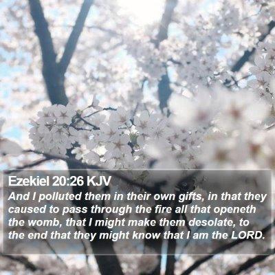 Ezekiel 20:26 KJV Bible Verse Image