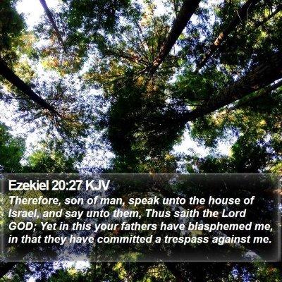Ezekiel 20:27 KJV Bible Verse Image