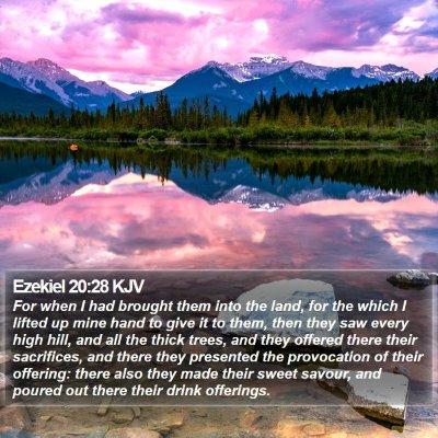 Ezekiel 20:28 KJV Bible Verse Image