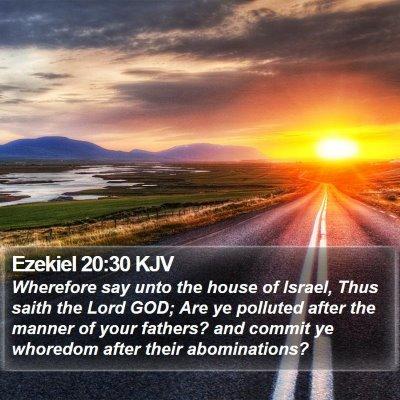 Ezekiel 20:30 KJV Bible Verse Image