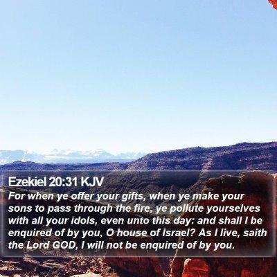 Ezekiel 20:31 KJV Bible Verse Image