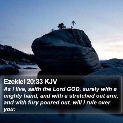 Ezekiel 20:33 KJV Bible Verse Image
