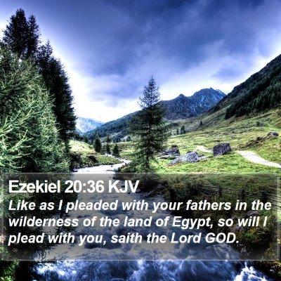 Ezekiel 20:36 KJV Bible Verse Image