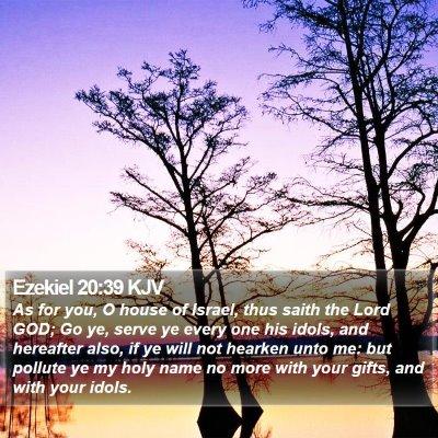 Ezekiel 20:39 KJV Bible Verse Image