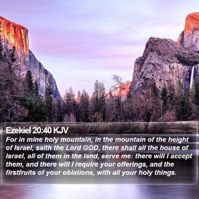 Ezekiel 20:40 KJV Bible Verse Image