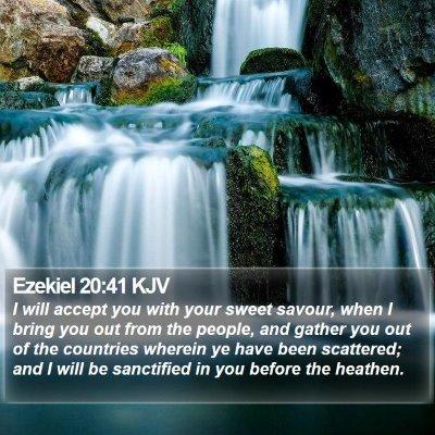 Ezekiel 20:41 KJV Bible Verse Image