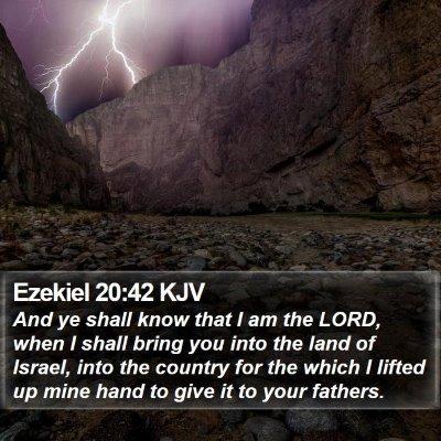 Ezekiel 20:42 KJV Bible Verse Image
