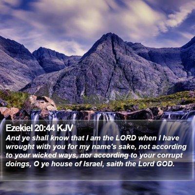Ezekiel 20:44 KJV Bible Verse Image