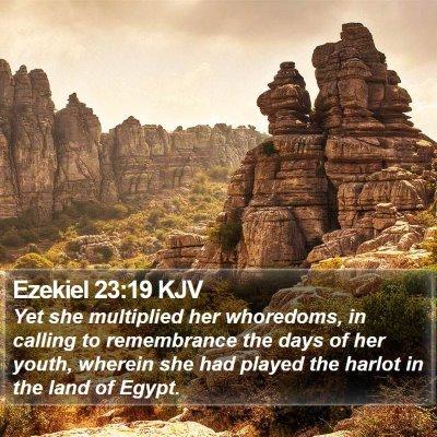 Ezekiel 23:19 KJV Bible Verse Image