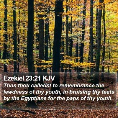 Ezekiel 23:21 KJV Bible Verse Image