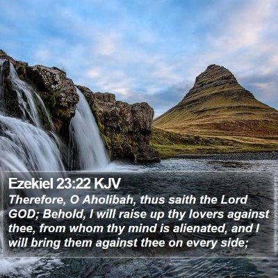 Ezekiel 23:22 KJV Bible Verse Image