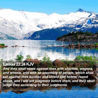 Ezekiel 23:24 KJV Bible Verse Image