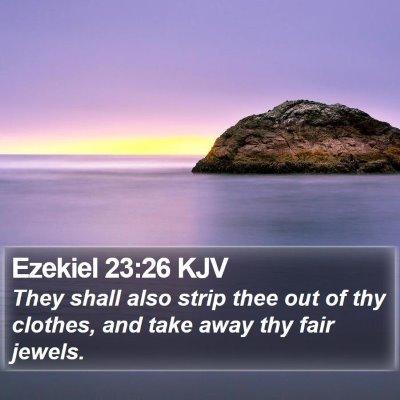 Ezekiel 23:26 KJV Bible Verse Image