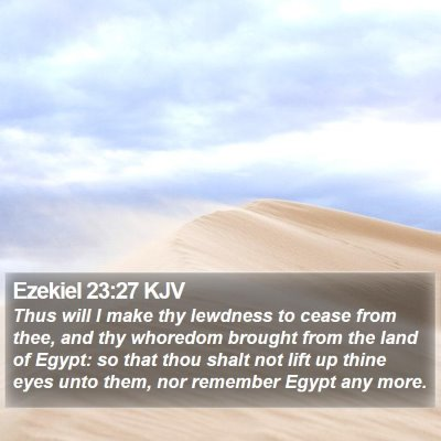 Ezekiel 23:27 KJV Bible Verse Image