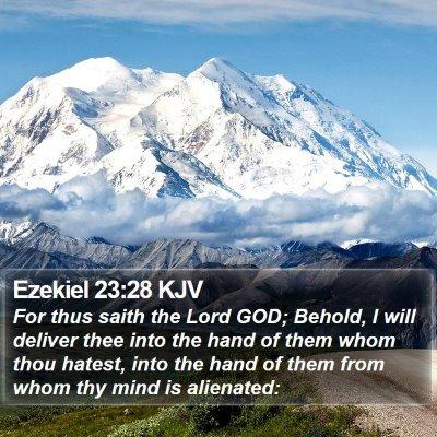 Ezekiel 23:28 KJV Bible Verse Image